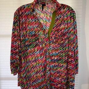 Venini women's button down shirt large